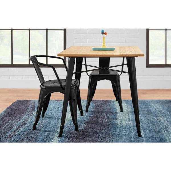 Stylewell Black Metal Dining Chair Set, Metal Dining Room Chairs