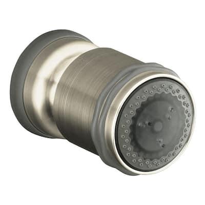 MasterShower 2.25 in. Round Ultra Low-Flow 2-Way Multifunction Adjustable Bodyspray in Vibrant Brushed Nickel