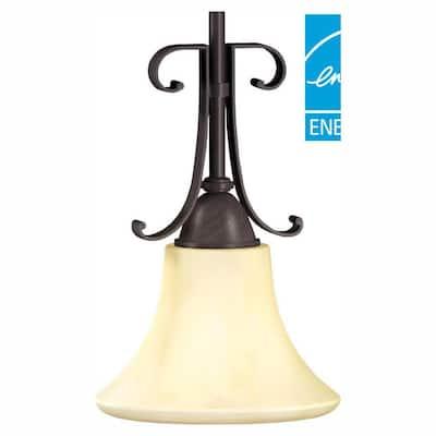 Swain 1-Light Oil-Rubbed Bronze Mini Pendant