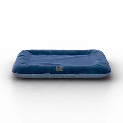 Cushy Orthopedic Extra Small Blue Breathable Dog Lounge Bed Cushion