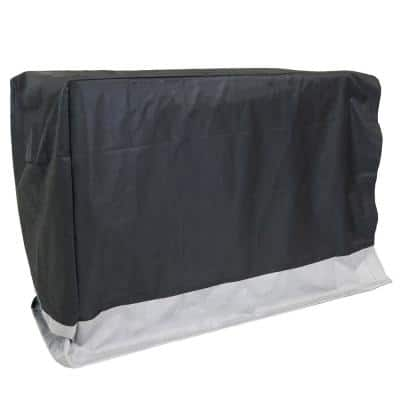 8 ft. Gray and Black Water-Resistant Firewood Rack Cover