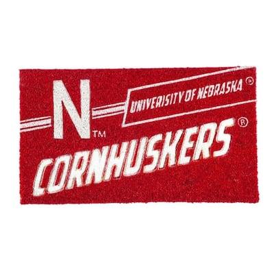 16 in. x 28 in. University of Nebraska Coir Punch Mat
