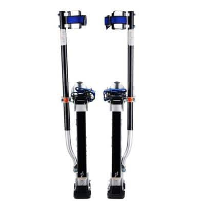 18 in. to 30 in. Adjustable Height Drywall Stilts in Black