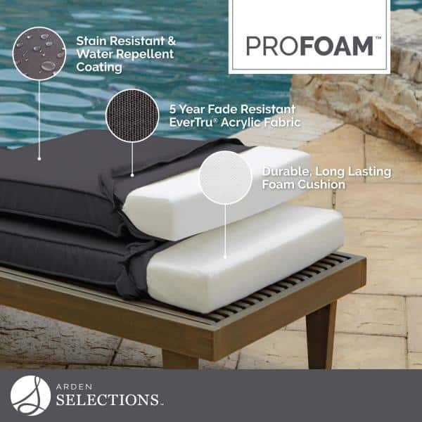 Arden Selections Profoam Caliente Acrylic Rectangle Outdoor Bench Cushion Ah0xf02b Dkz1 The Home Depot