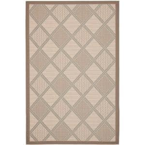 Courtyard Tan/Dark Beige 5 ft. x 8 ft. Indoor/Outdoor Area Rug