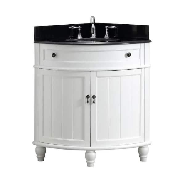 Modetti Angolo 34 In W X 24 D Bath, Bathroom Corner Sinks And Vanities