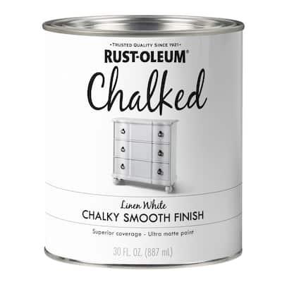 30 oz. Linen White Ultra Matte Interior Chalked Paint (2-Pack)