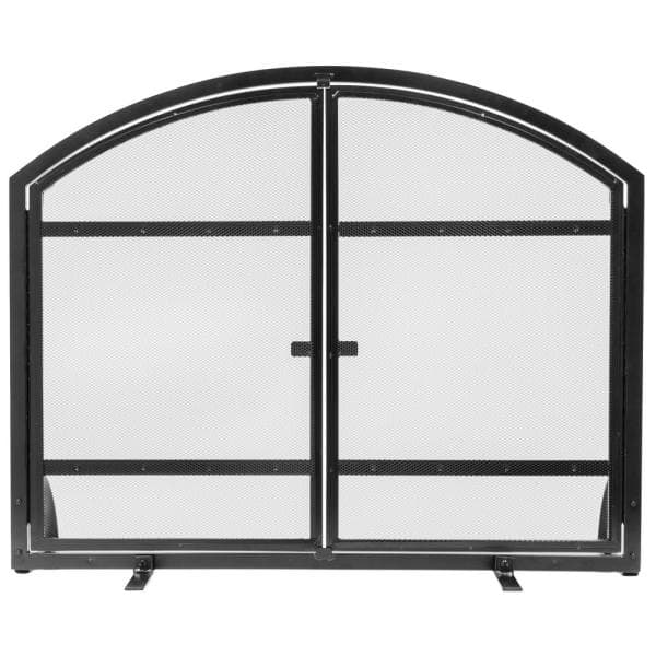 Pleasant Hearth Harper 1 Panel Fireplace Screen With Doors Fa338s The Home Depot