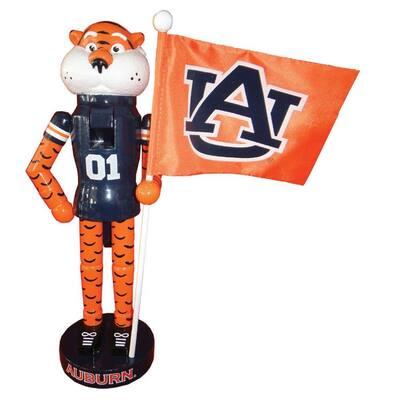 12 in. Auburn Mascot Nutcracker with Flag