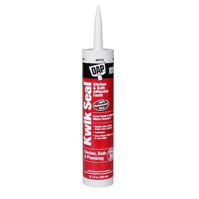 Kwik Seal 10.1 oz. White Kitchen and Bath Adhesive Caulk (12-Pack)