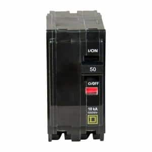 QO 50 Amp 2-Pole Circuit Breaker (3-Pack)