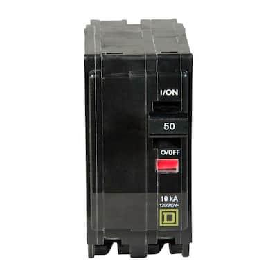 QO 50 Amp 2-Pole Circuit Breaker (3-Pack)