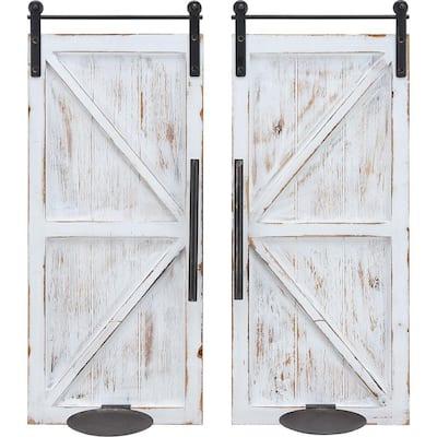Eastman Farmhouse Barn Door Wall Sconce 2-Piece Set