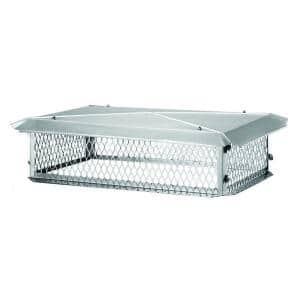 41 in. x 17 in. x 10 in. H Chimney Cap in Stainless Steel