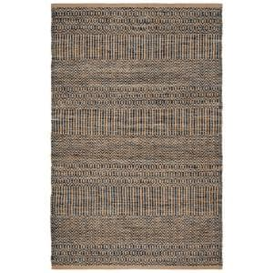 Cape Cod Navy/Natural 8 ft. x 10 ft. Geometric Area Rug