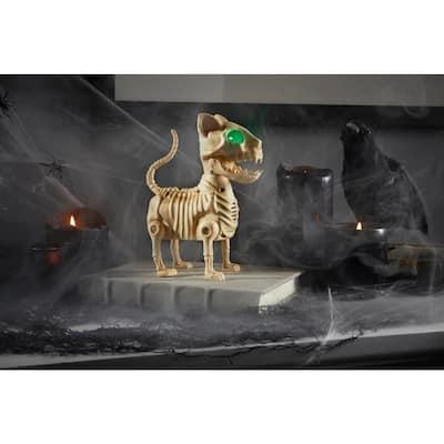 7 in. Animated LED Skeleton Mini Cat