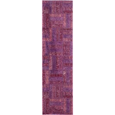 Monaco Purple/Multi 2 ft. x 8 ft. Runner Rug