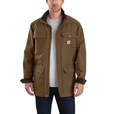 Men's Extra-Large Coffee Cotton Field Coat
