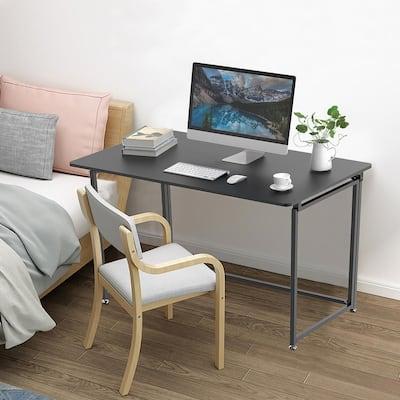 43 in. Foldable Writing Desk in Black