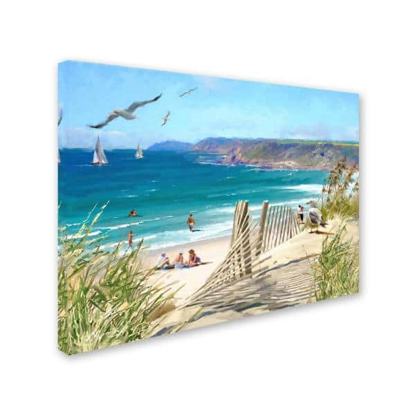 Trademark Fine Art 24 In X 32 In Coastal By The Macneil Studio Printed Canvas Wall Art Ali8961 C2432gg The Home Depot