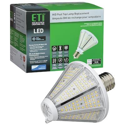 175-Watt Equivalent Post Top LED Light HID Lamp Replacement EX39 Mog 50-Watt 3900 Lumens 5000K Daylight