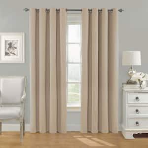 linen Grommet Blackout Curtain - 52 in. W x 84 in. L