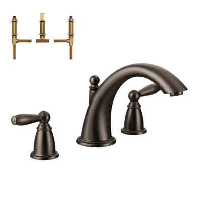 Brantford 2-Handle Deck-Mount Roman Tub Faucet in Oil Rubbed Bronze (Valve Included)