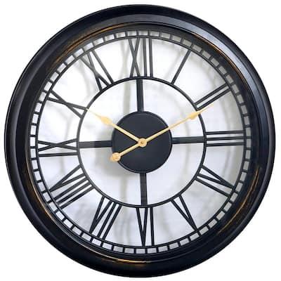 "39003- 30"" Bronze Round Roman Numeral Wall Clock"