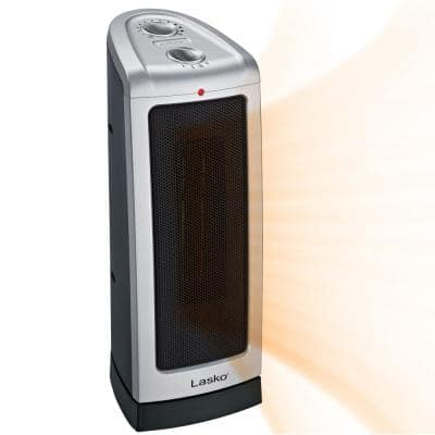 Tower 16 in. 1500-Watt Electric Ceramic Oscillating Tower Space Heater with Manual Thermostat