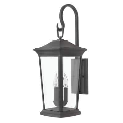 Bromley Extra-Large 3-Light Museum Black Outdoor Wall Mount Lantern