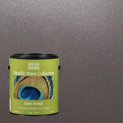 1 gal. Smoke Water-Based Satin Metallic Interior Paint