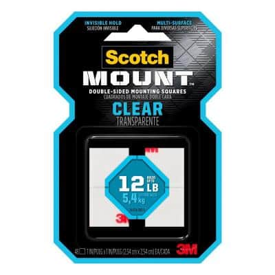 Scotch 1 in x 1 in (2,54 cm x 2,54 cm), Clear Mounting Squares (Case of 6)