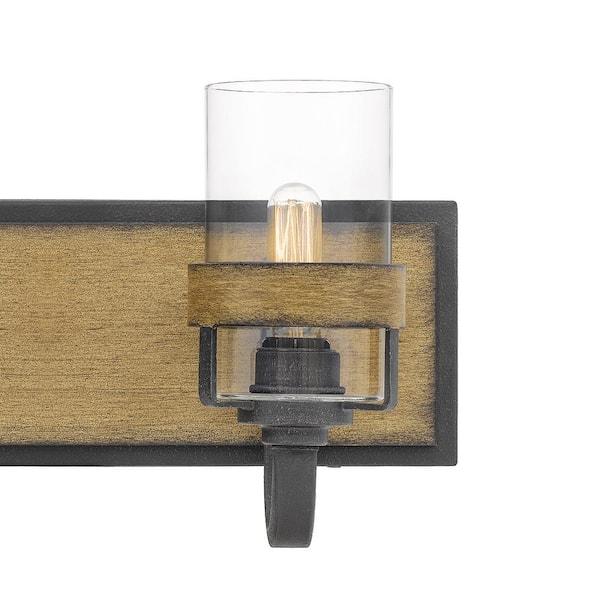 Quoizel Finch 4 Light Aged Walnut Vanity Light Fin8634awn The Home Depot