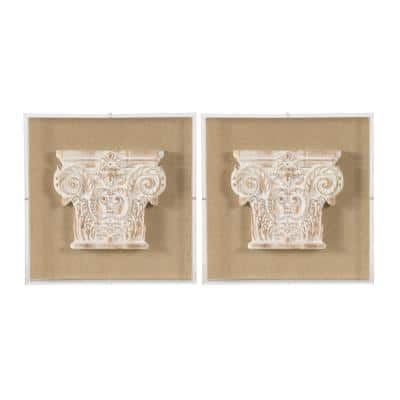 Framed Abstract Wall Art 13.8 in. x 13.8 in.