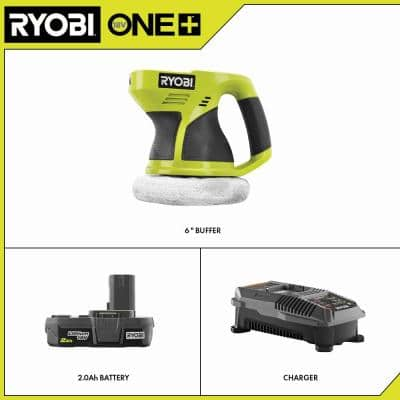 18-Volt ONE+ Cordless 6 in. Buffer with 2.0 Ah Battery and Charger Kit