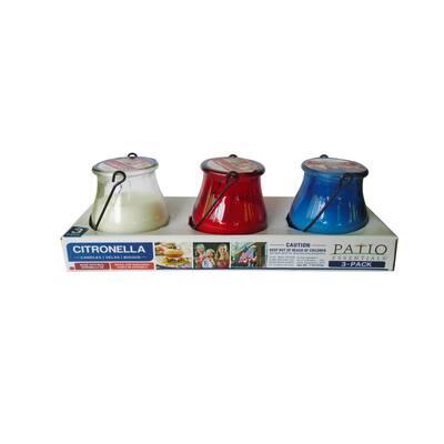 5 oz. Patriotic Glass Lantern Set (3-Pack)