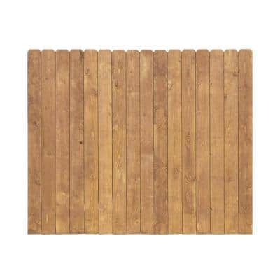 6 ft. x 8 ft. Stained White Wood Premium Dog-Ear Fence Panel