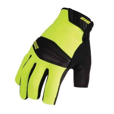 Super Hi-Vis Lineman-Cut Work Safety Gloves, Red/Yellow