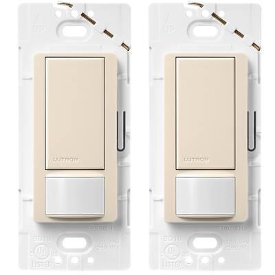 Maestro Motion Sensor switch, 2 Amp, Single-Pole, Light Almond (2-Pack)