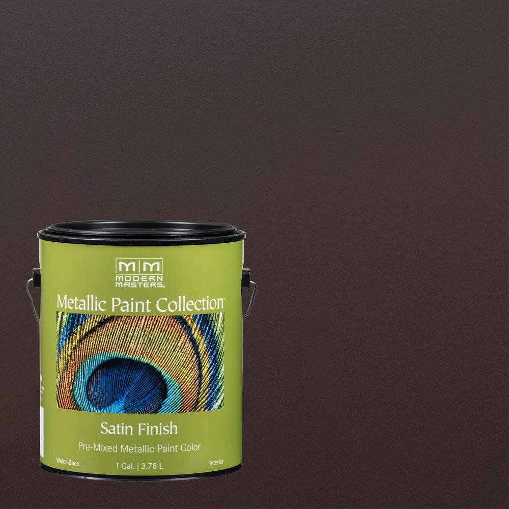 1 gal. English Brown Water-Based Satin Metallic Interior Paint
