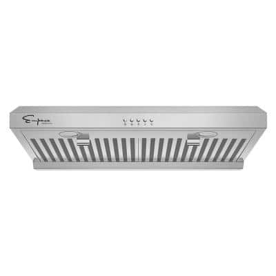 30 in. 400 CFM Ductless Kitchen Under Cabinet Range Hood Shell with Light in Stainless Steel