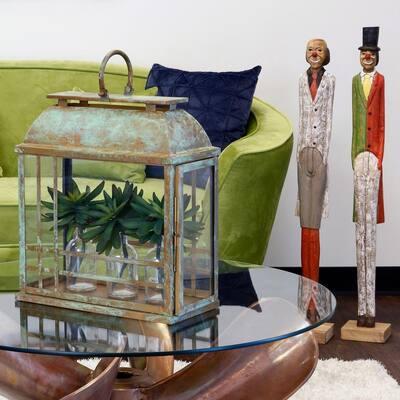 Patina Rectangular Glass Sculpture