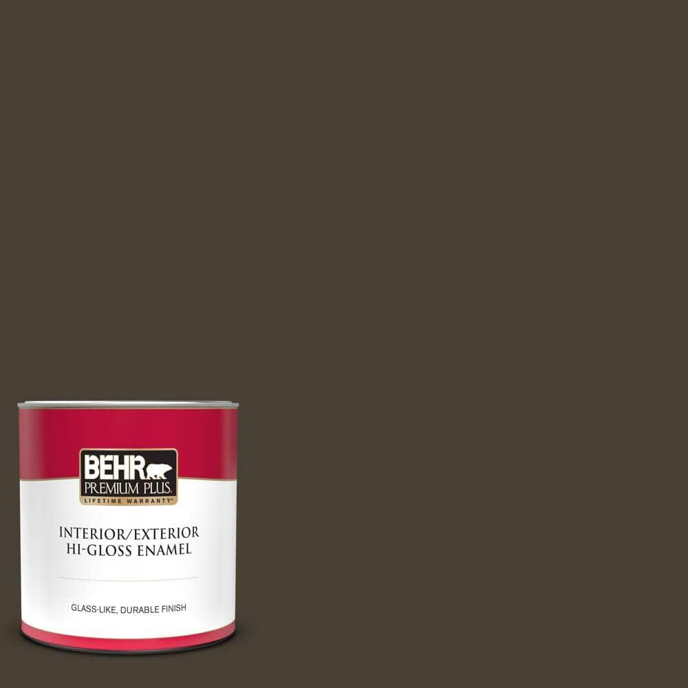 1 Qt Ppu5 20 Sweet Molasses Hi Gloss Enamel Interior Exterior Paint 830004 The Home Depot