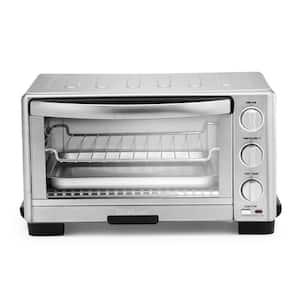 6-Slice Silver Toaster Oven Broiler