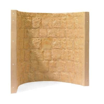 42 in. x 23 in. x 48 in. Tan Composite Window Well
