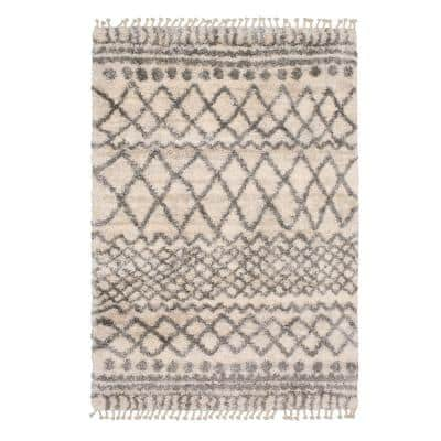 Caspian Cream 8 ft. x 12 ft. Moroccan Area Rug