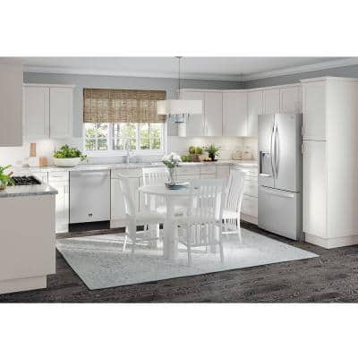 Cambridge Shaker Assembled 23.64x30x23.64 in. Corner Wall Cabinet with 1 Soft Close Door in White
