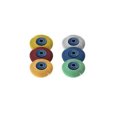 Sunburst - 2 in. 6-PLY Radial Discs - 1/4 in. Arbor - Thermoplastic Cleaning and Polishing Tool Assortment (6-Piece)