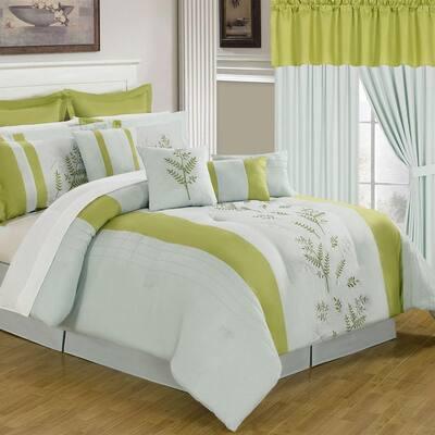 Maria 24-Piece Yellow Queen Comforter Set