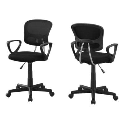 Jasmine 1-Piece Black Office Chair